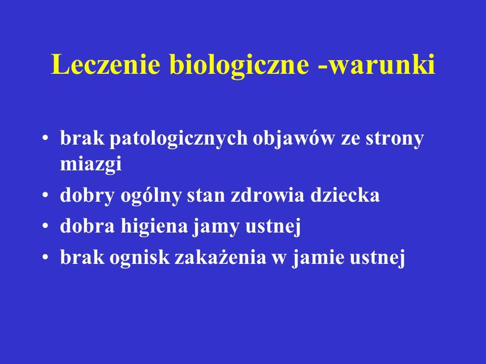 Leczenie biologiczne -warunki
