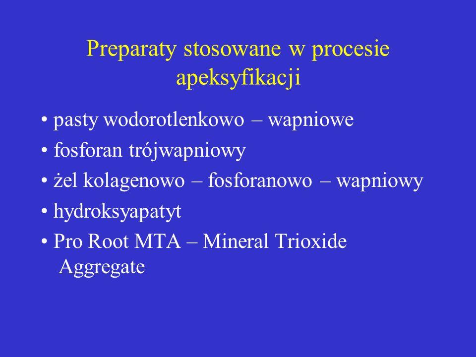Preparaty stosowane w procesie apeksyfikacji