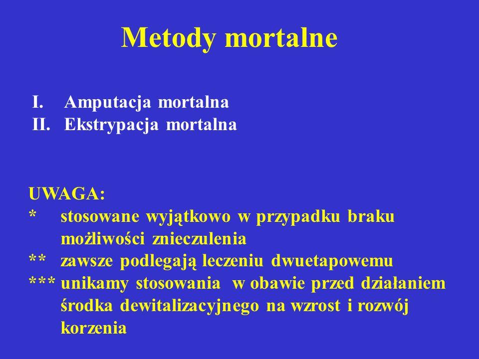 Metody mortalne Amputacja mortalna Ekstrypacja mortalna UWAGA:
