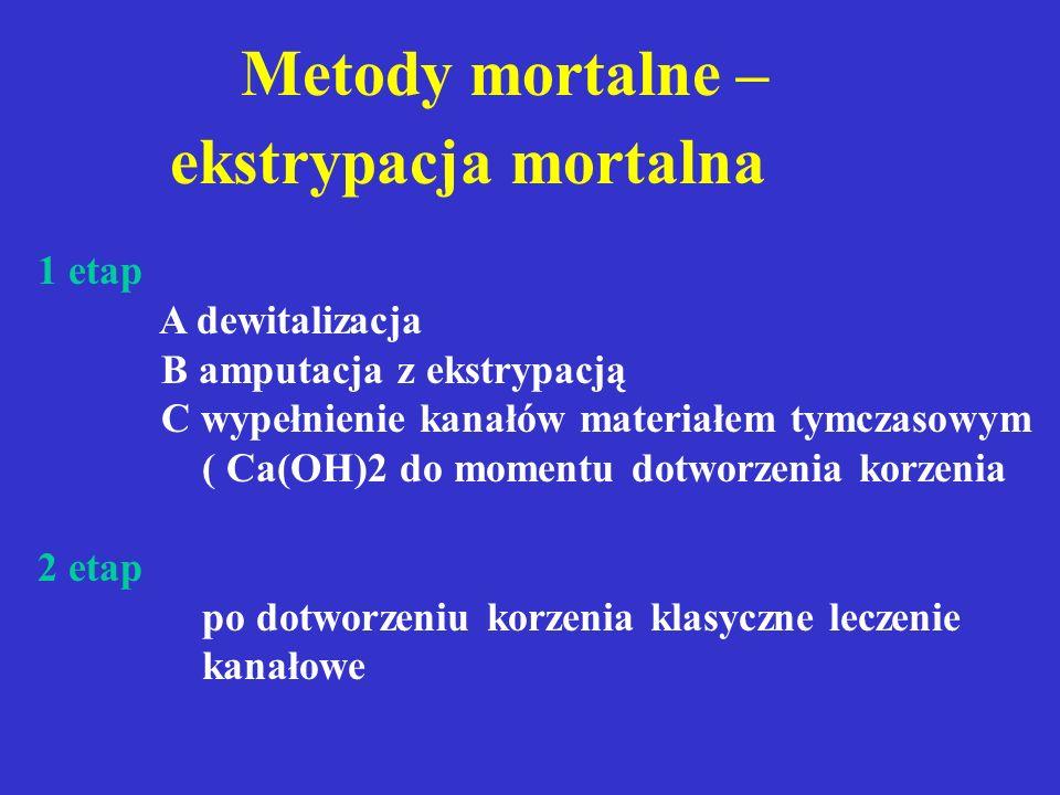 Metody mortalne – ekstrypacja mortalna 1 etap A dewitalizacja