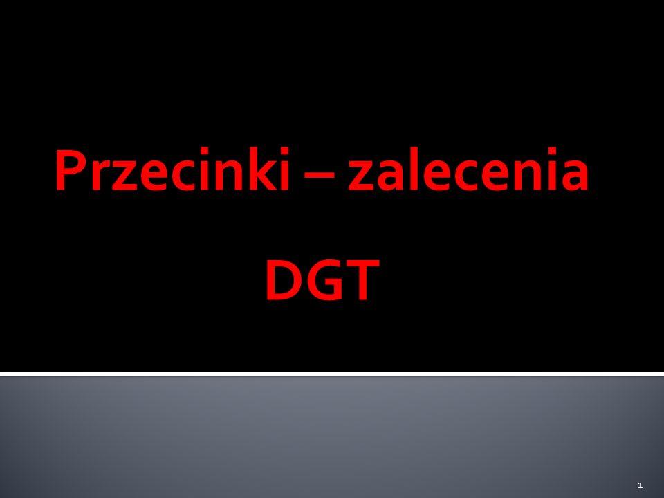 Przecinki – zalecenia DGT