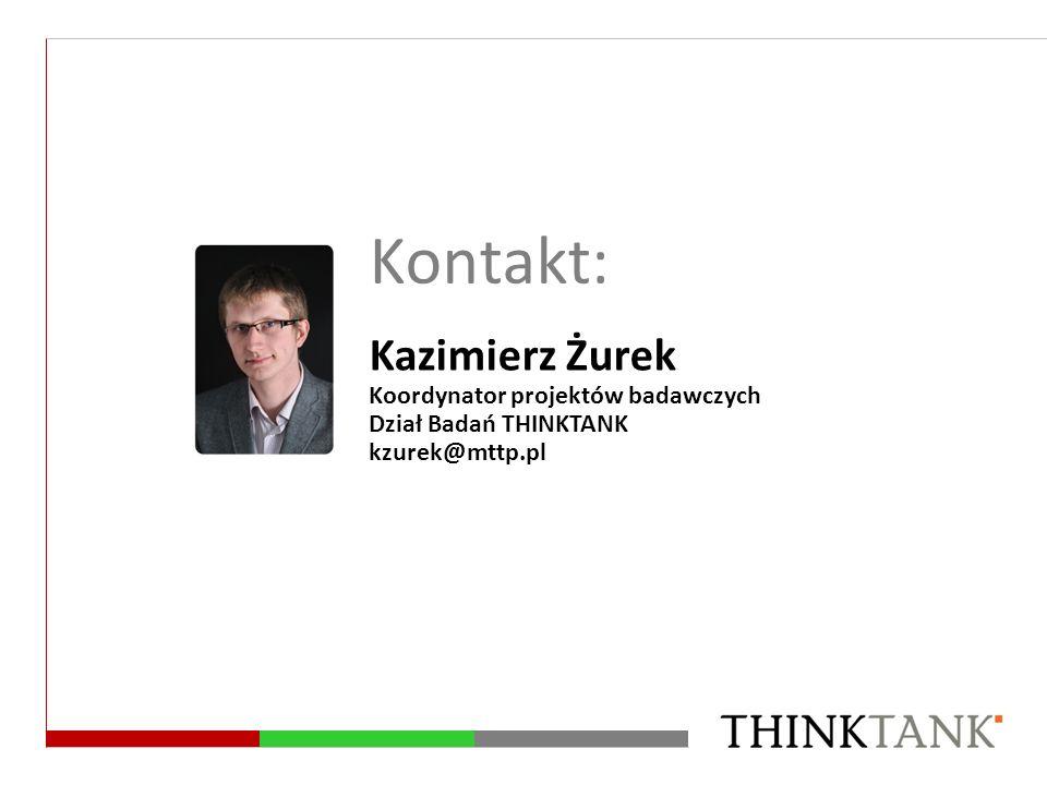 Kontakt: Kazimierz Żurek Koordynator projektów badawczych
