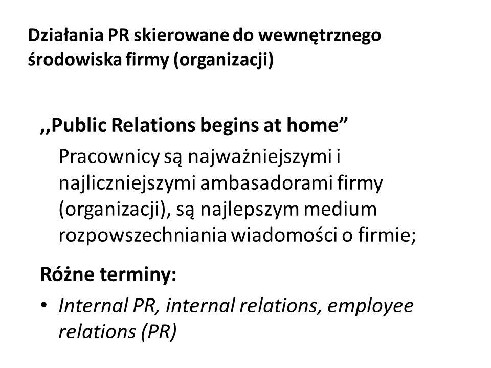 Działania PR skierowane do wewnętrznego środowiska firmy (organizacji)
