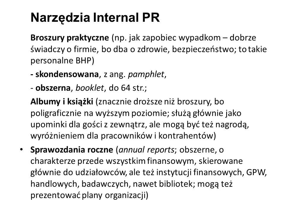 Narzędzia Internal PR