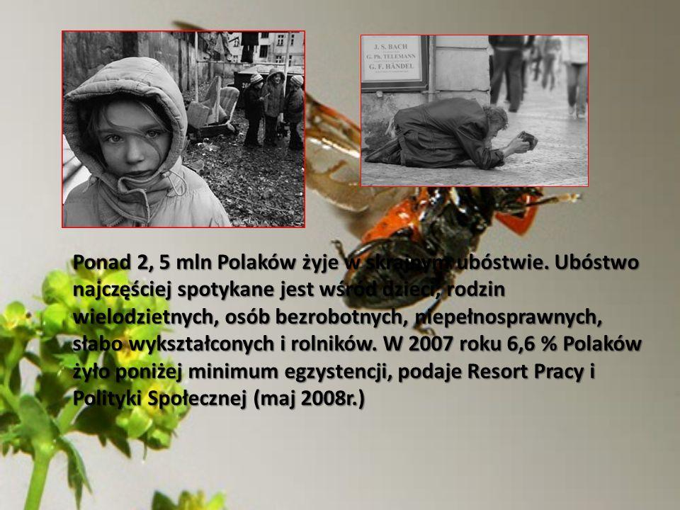 Ponad 2, 5 mln Polaków żyje w skrajnym ubóstwie