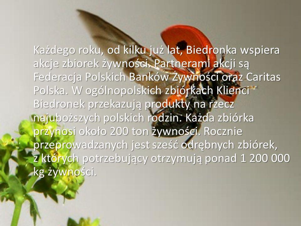 Każdego roku, od kilku już lat, Biedronka wspiera akcje zbiorek żywności.