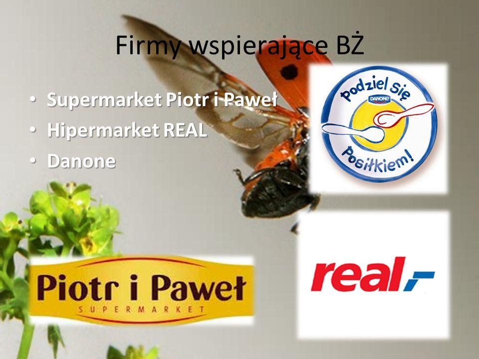 Firmy wspierające BŻ Supermarket Piotr i Paweł Hipermarket REAL Danone