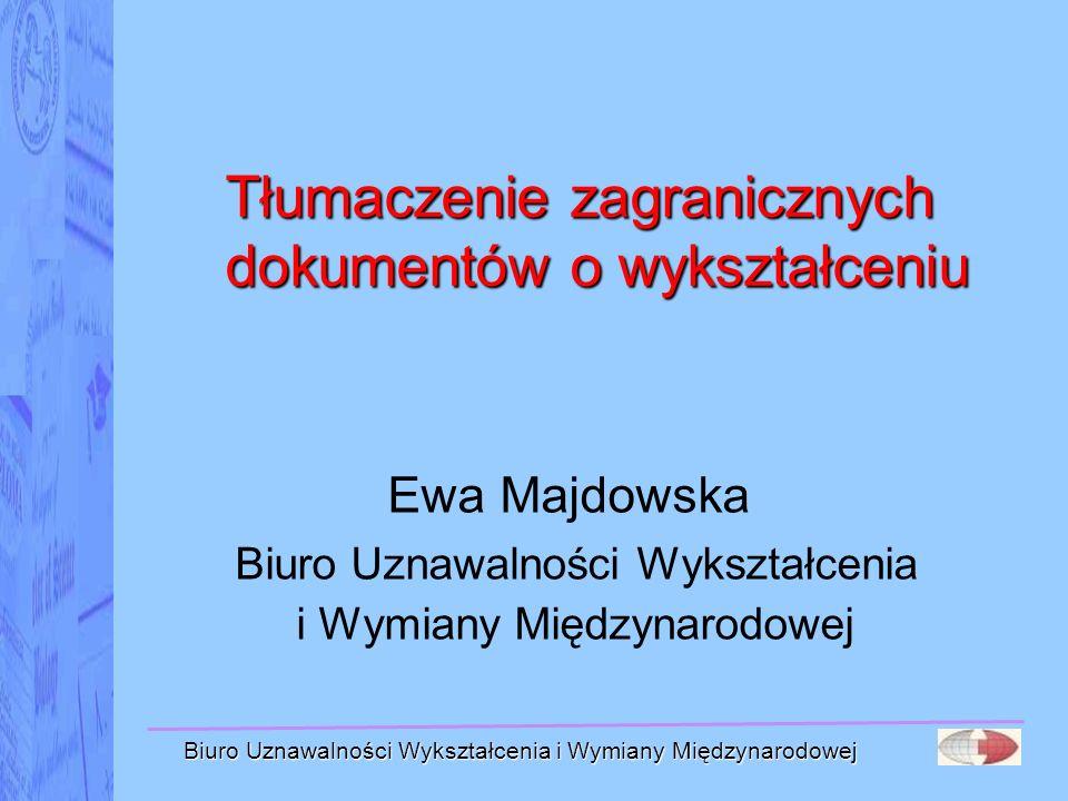 Tłumaczenie zagranicznych dokumentów o wykształceniu