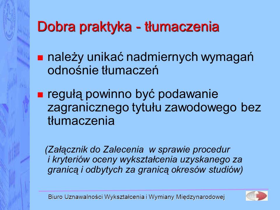Dobra praktyka - tłumaczenia
