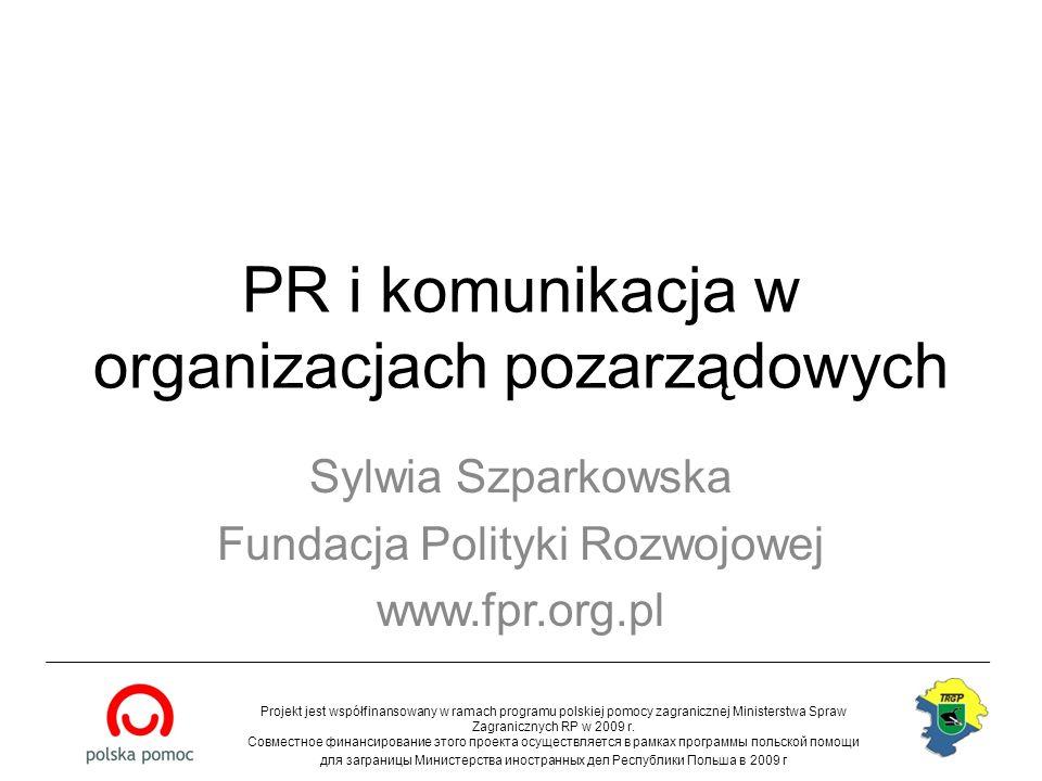 PR i komunikacja w organizacjach pozarządowych