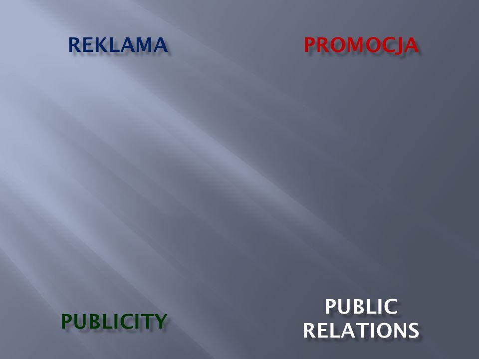 REKLAMA PROMOCJA PUBLIC RELATIONS PUBLICITY
