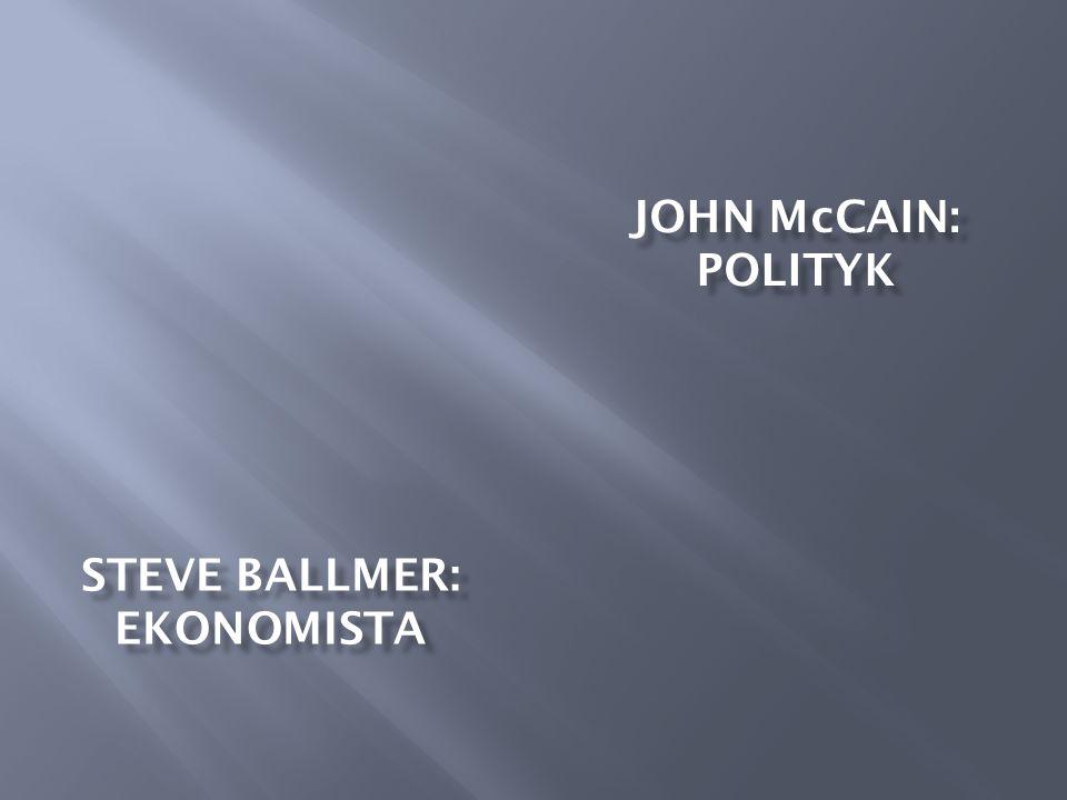 STEVE BALLMER: EKONOMISTA