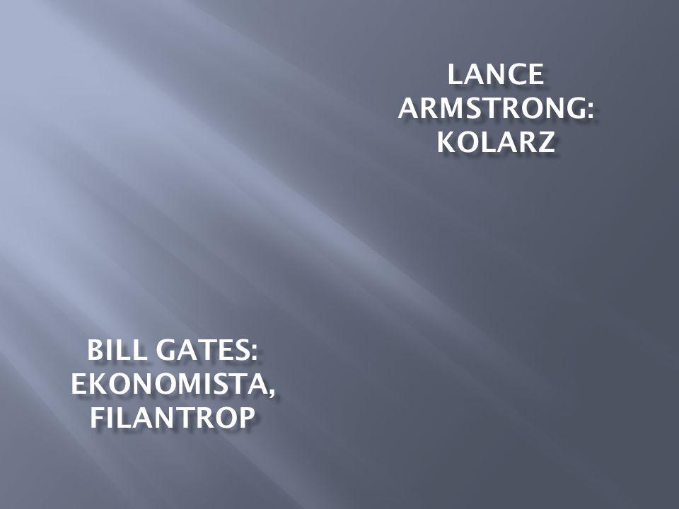 BILL GATES: EKONOMISTA, FILANTROP
