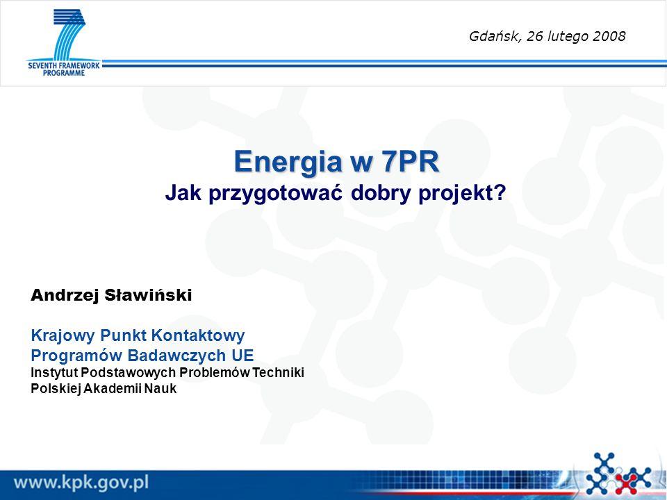 Energia w 7PR Jak przygotować dobry projekt