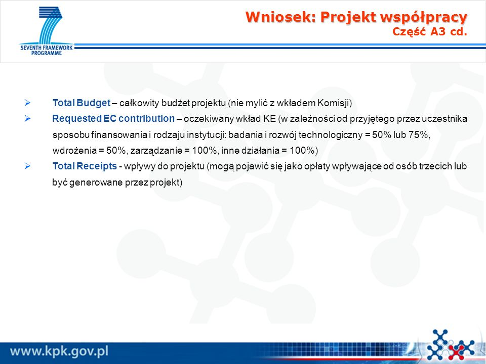 Wniosek: Projekt współpracy Część A3 cd.