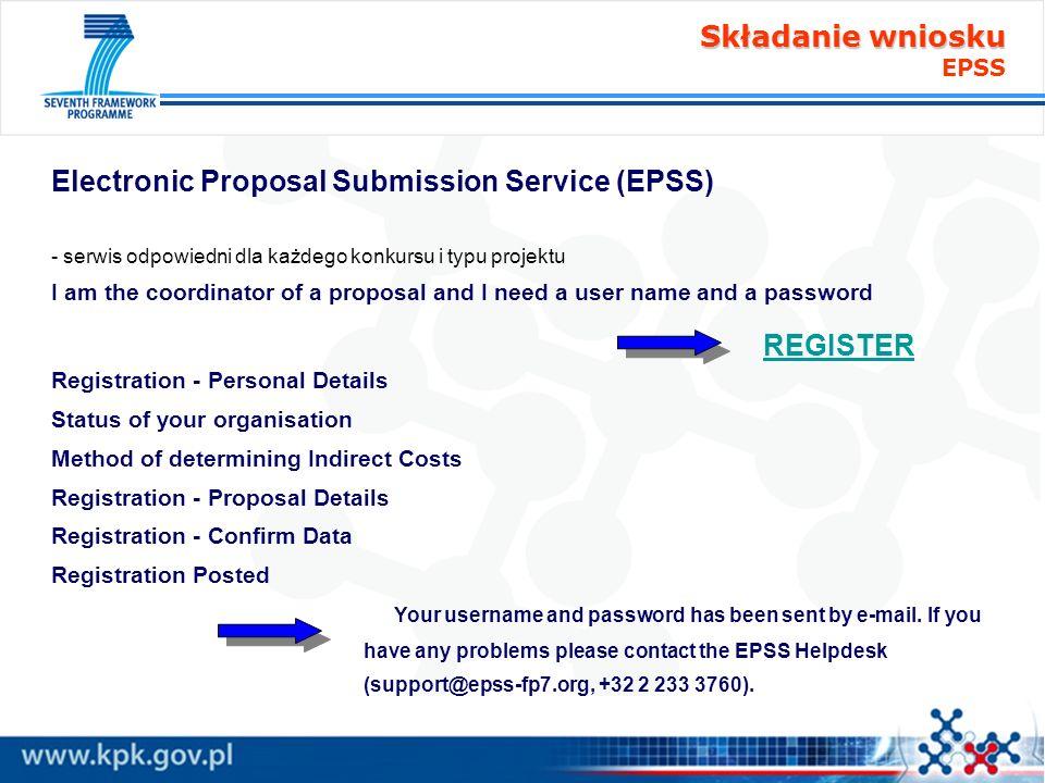 Składanie wniosku EPSS