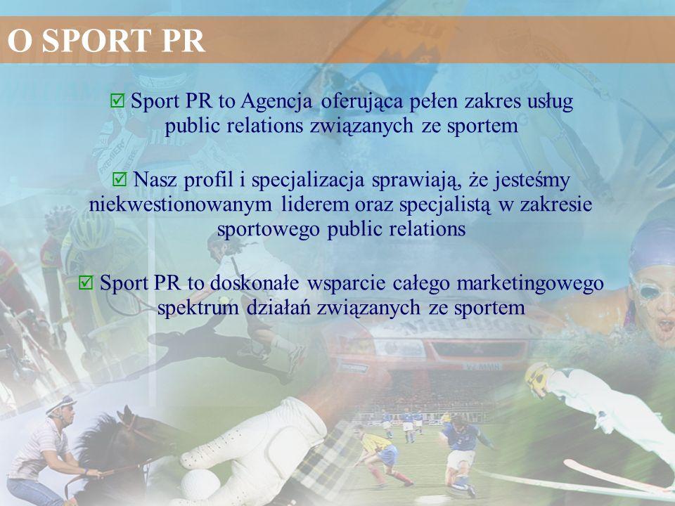 O SPORT PR  Sport PR to Agencja oferująca pełen zakres usług public relations związanych ze sportem.
