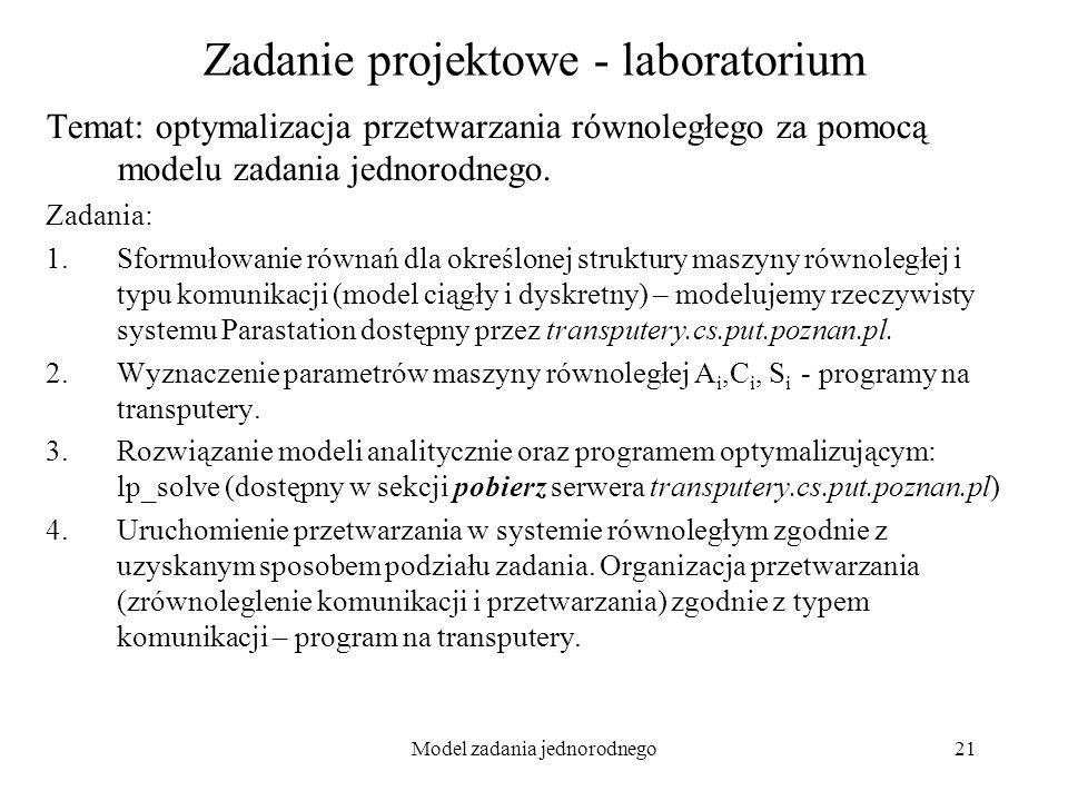 Zadanie projektowe - laboratorium
