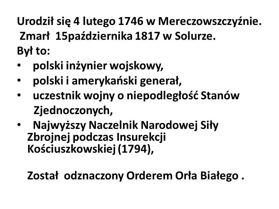Urodził się 4 lutego 1746 w Mereczowszczyźnie.
