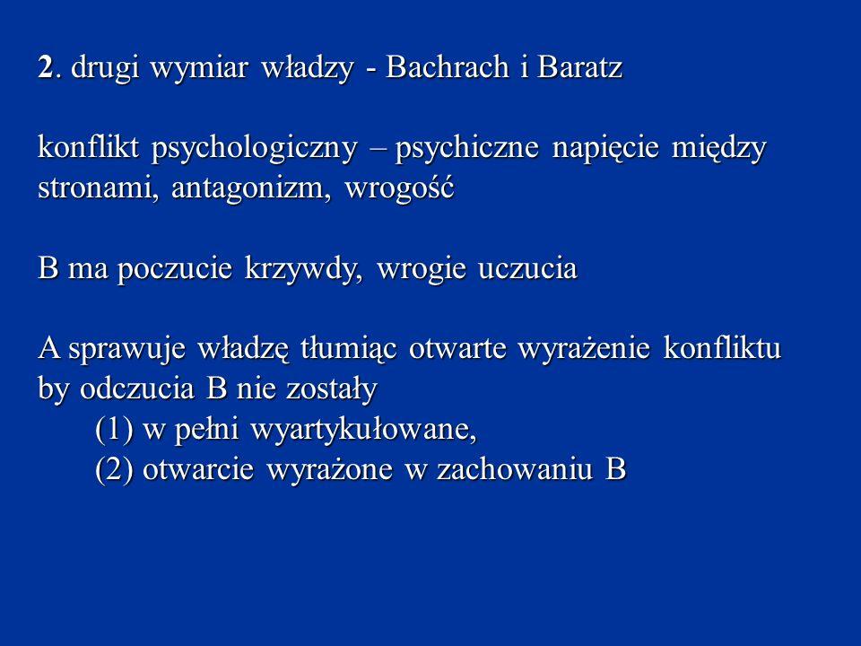 2. drugi wymiar władzy - Bachrach i Baratz