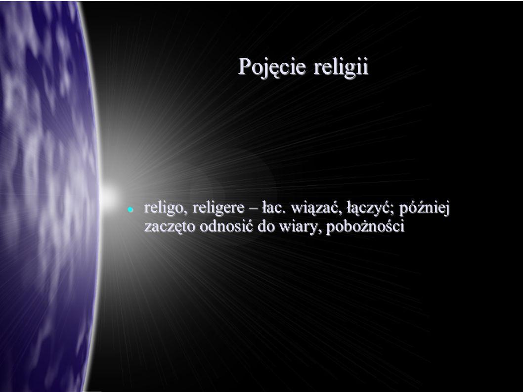 Pojęcie religii religo, religere – łac.