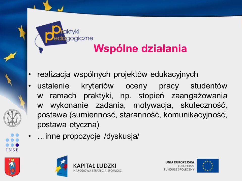 Wspólne działania realizacja wspólnych projektów edukacyjnych
