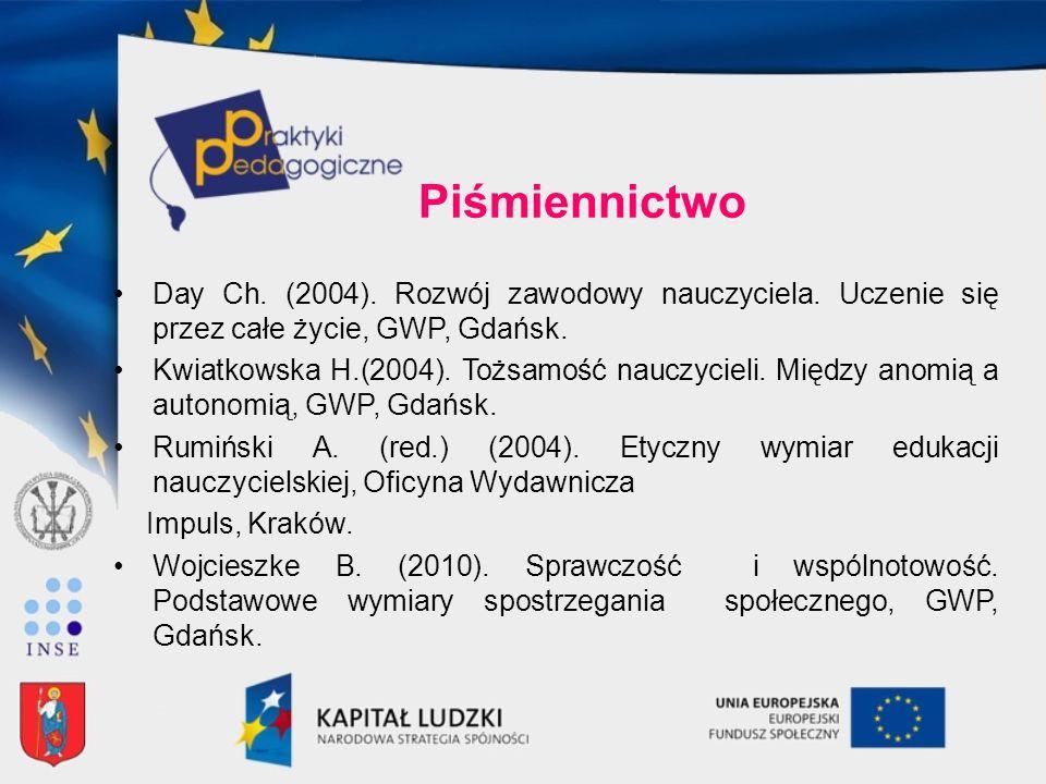 Piśmiennictwo Day Ch. (2004). Rozwój zawodowy nauczyciela. Uczenie się przez całe życie, GWP, Gdańsk.