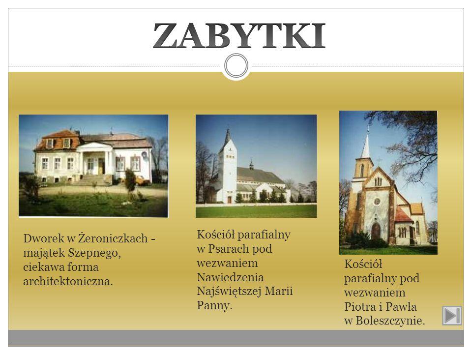 ZABYTKIKościół parafialny w Psarach pod wezwaniem Nawiedzenia Najświętszej Marii Panny.
