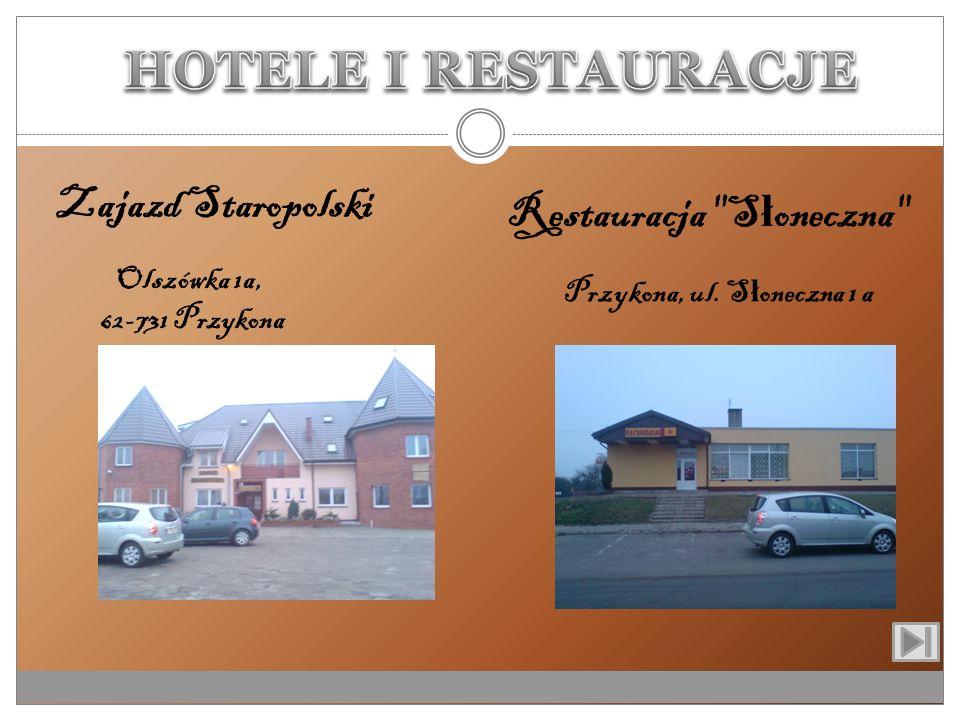 HOTELE I RESTAURACJE Zajazd Staropolski Restauracja Słoneczna