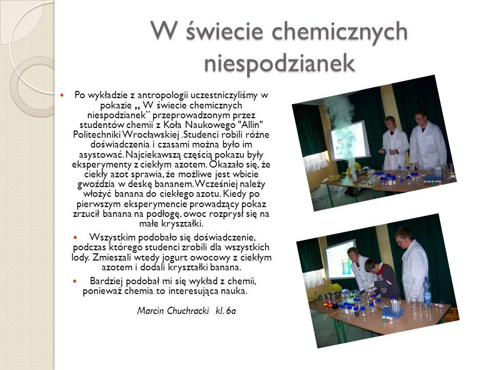 W świecie chemicznych niespodzianek