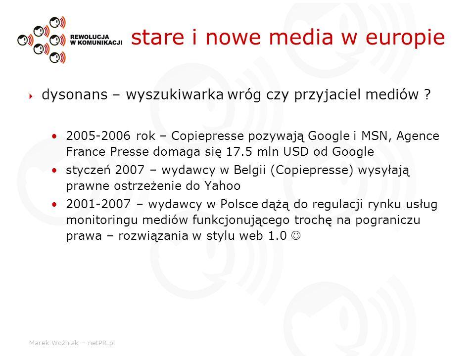 stare i nowe media w europie