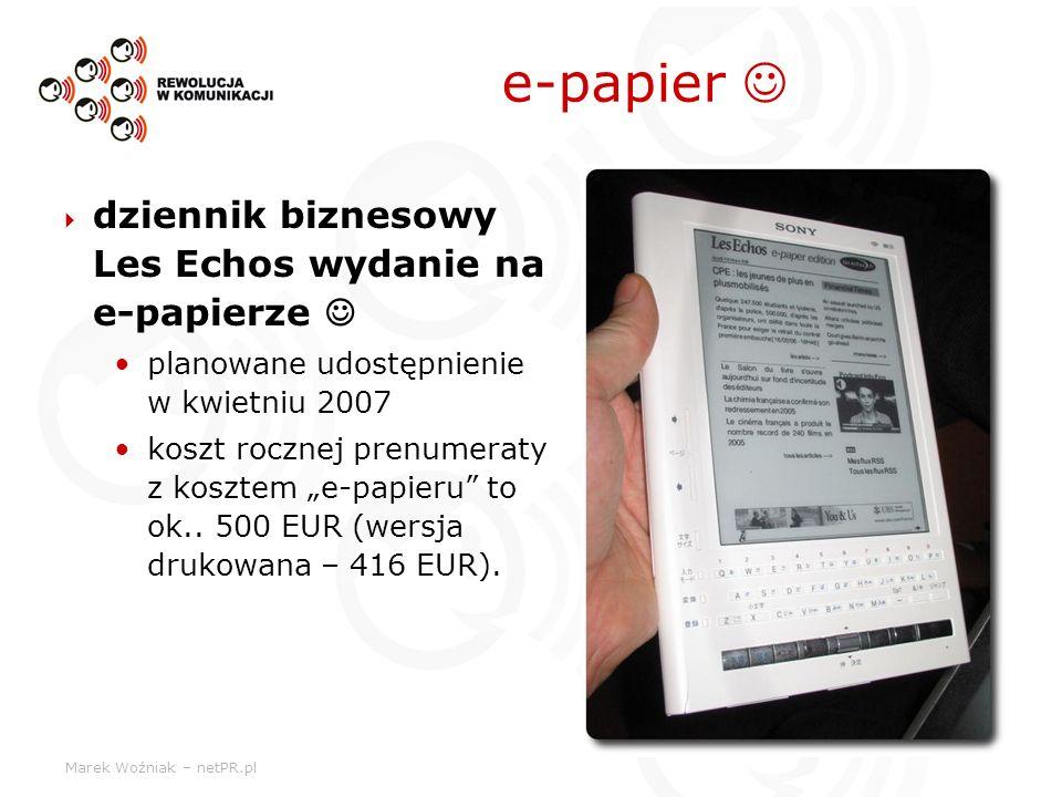 e-papier  dziennik biznesowy Les Echos wydanie na e-papierze 