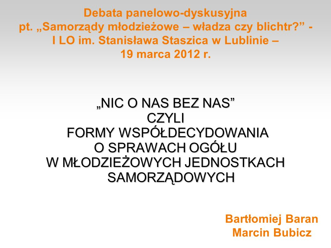 Bartłomiej Baran Marcin Bubicz