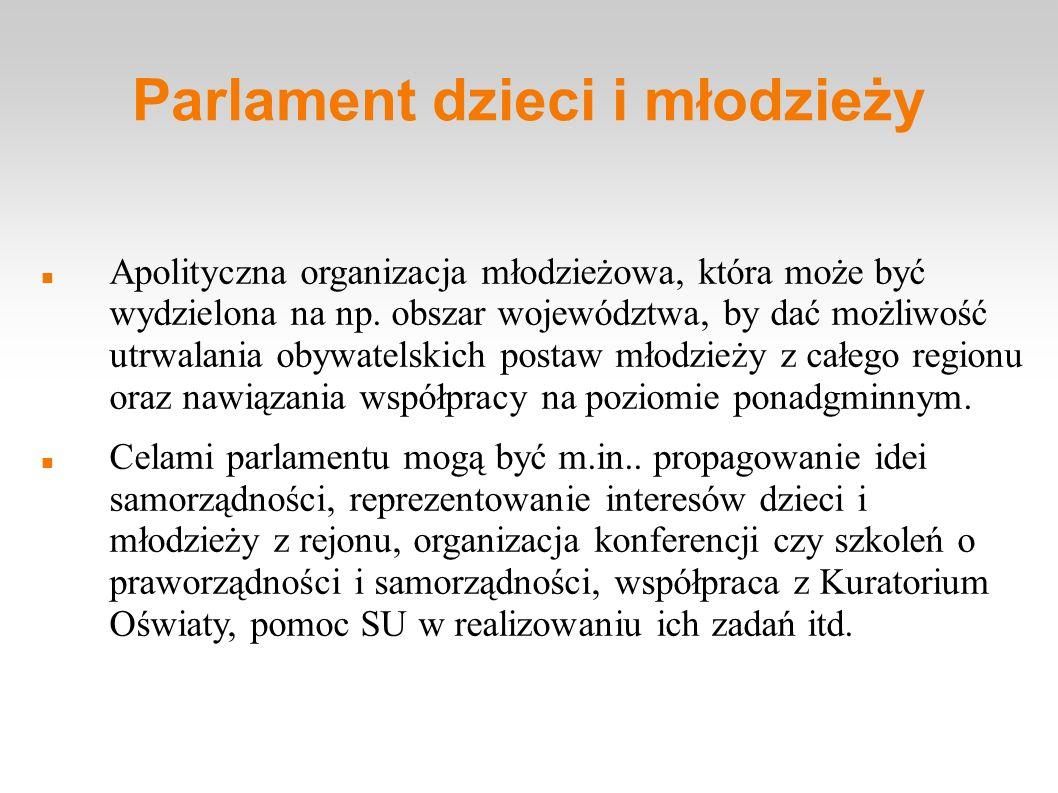 Parlament dzieci i młodzieży