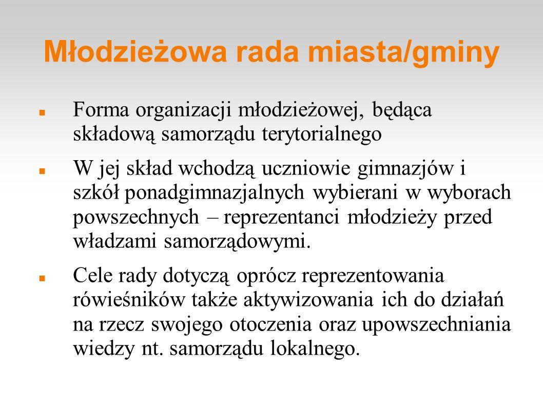 Młodzieżowa rada miasta/gminy