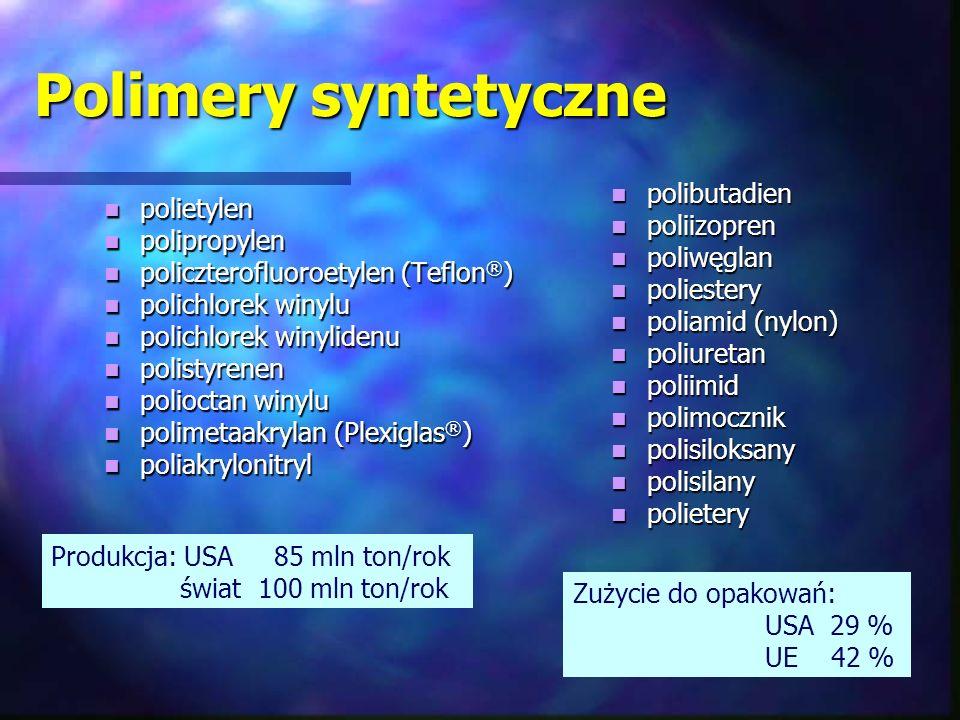 Polimery syntetyczne polibutadien polietylen poliizopren polipropylen