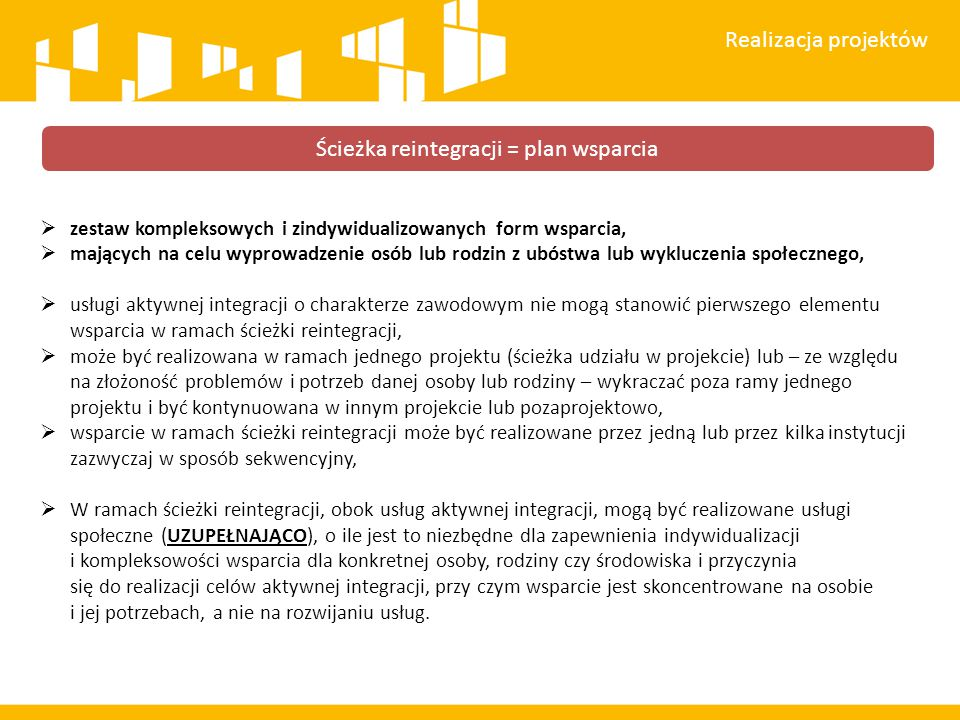 Ścieżka reintegracji = plan wsparcia