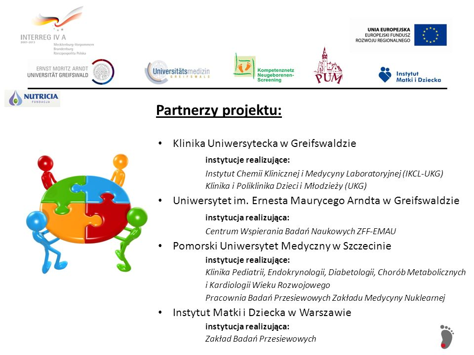 Partnerzy projektu: Klinika Uniwersytecka w Greifswaldzie