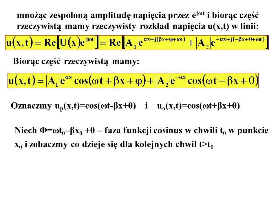 mnożąc zespoloną amplitudę napięcia przez ejωt i biorąc część