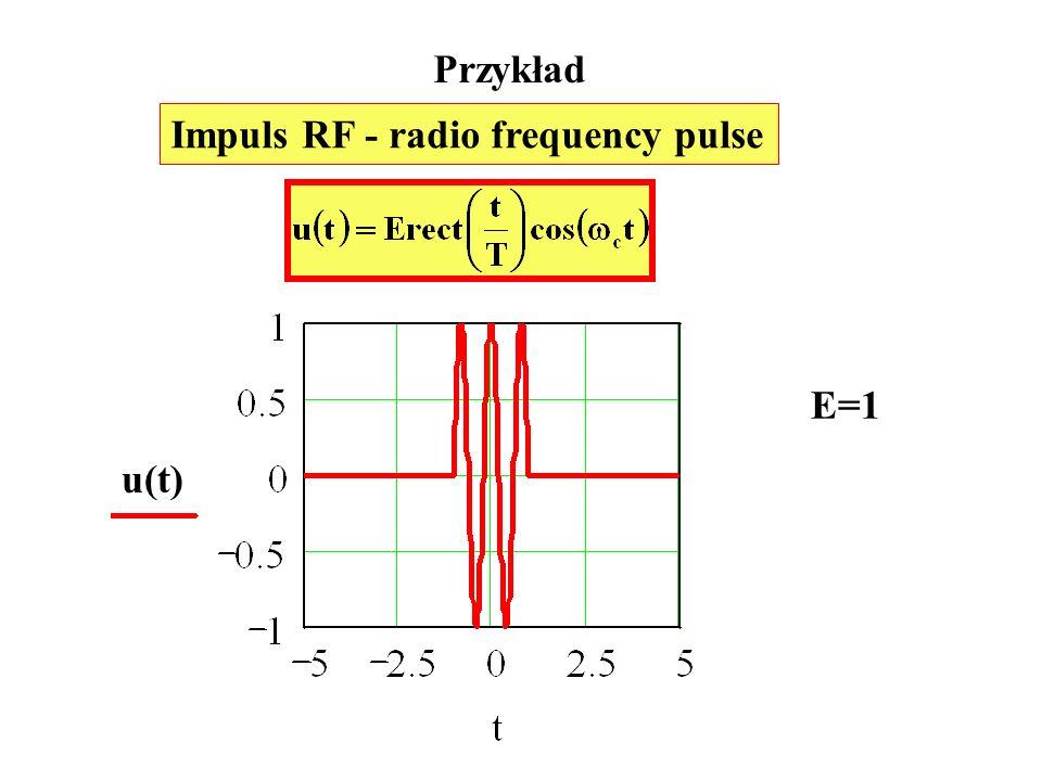Przykład Impuls RF - radio frequency pulse E=1 u(t)