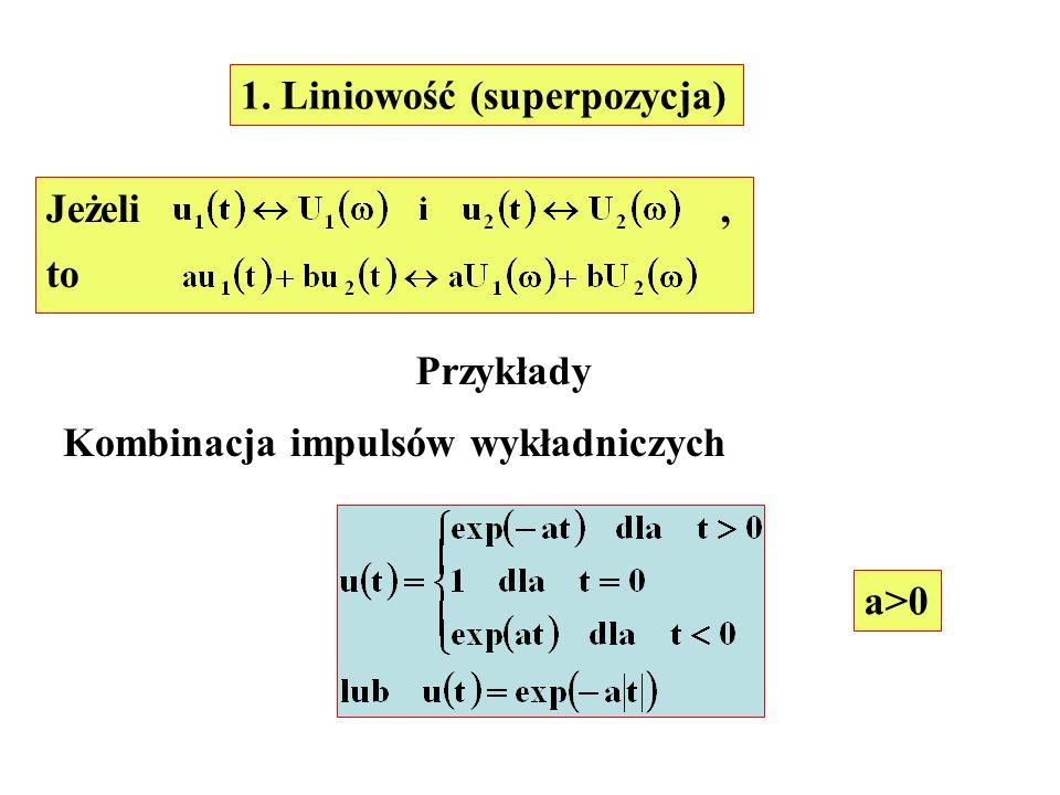1. Liniowość (superpozycja)