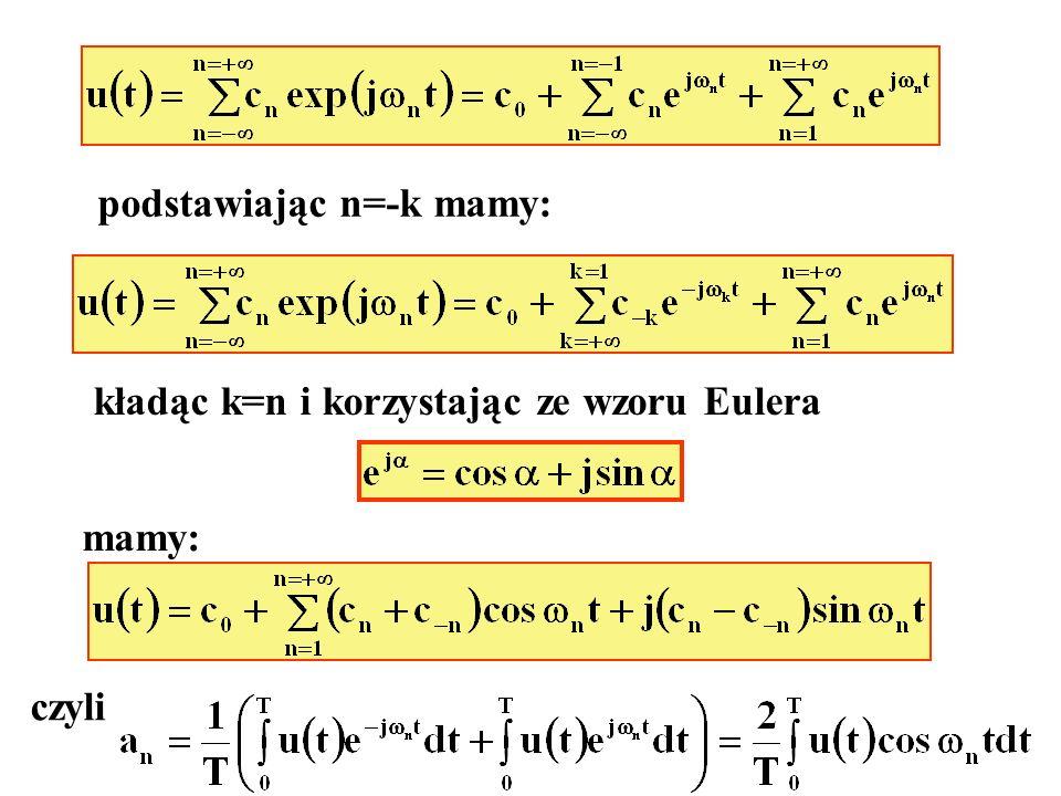 podstawiając n=-k mamy: