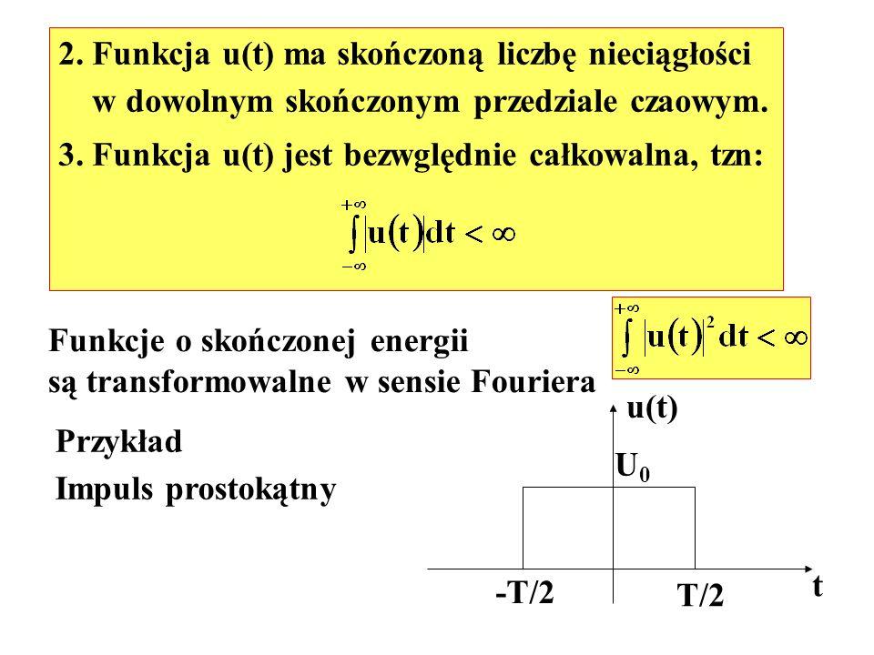 2. Funkcja u(t) ma skończoną liczbę nieciągłości