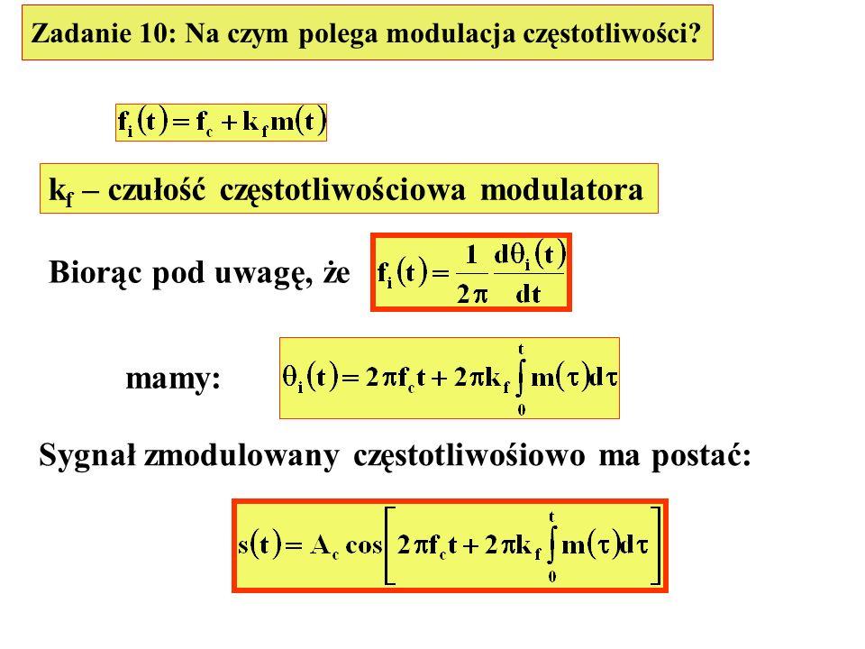 kf – czułość częstotliwościowa modulatora
