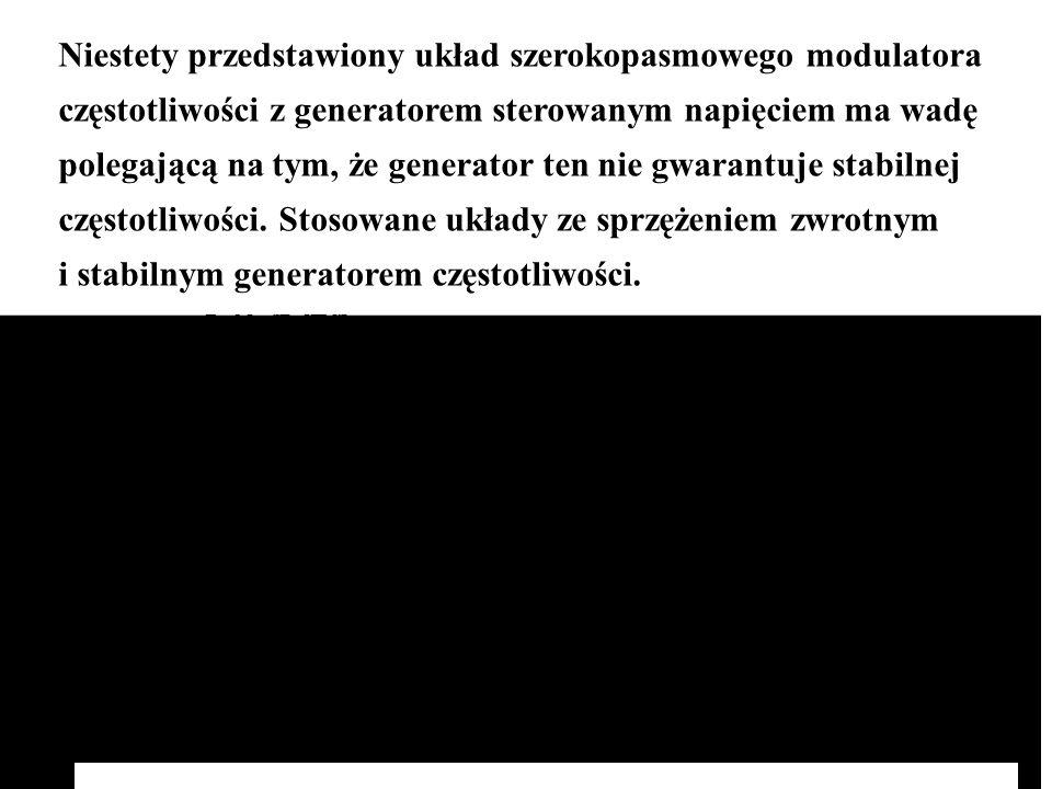 Niestety przedstawiony układ szerokopasmowego modulatora