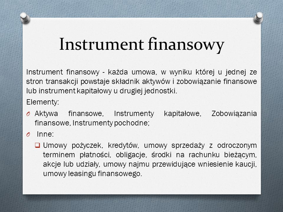 Instrument finansowy