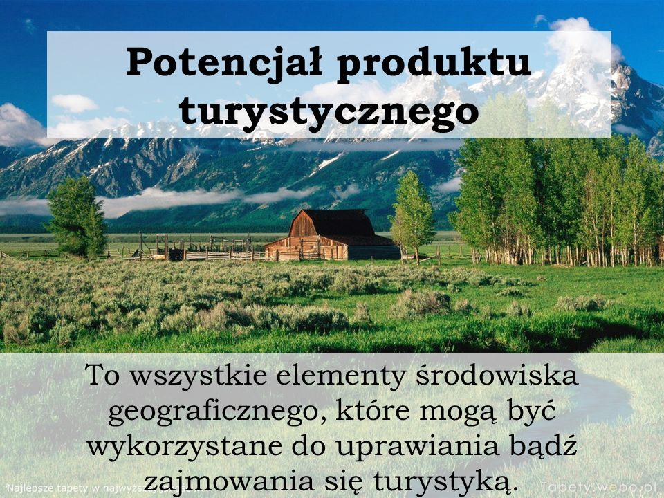 Potencjał produktu turystycznego