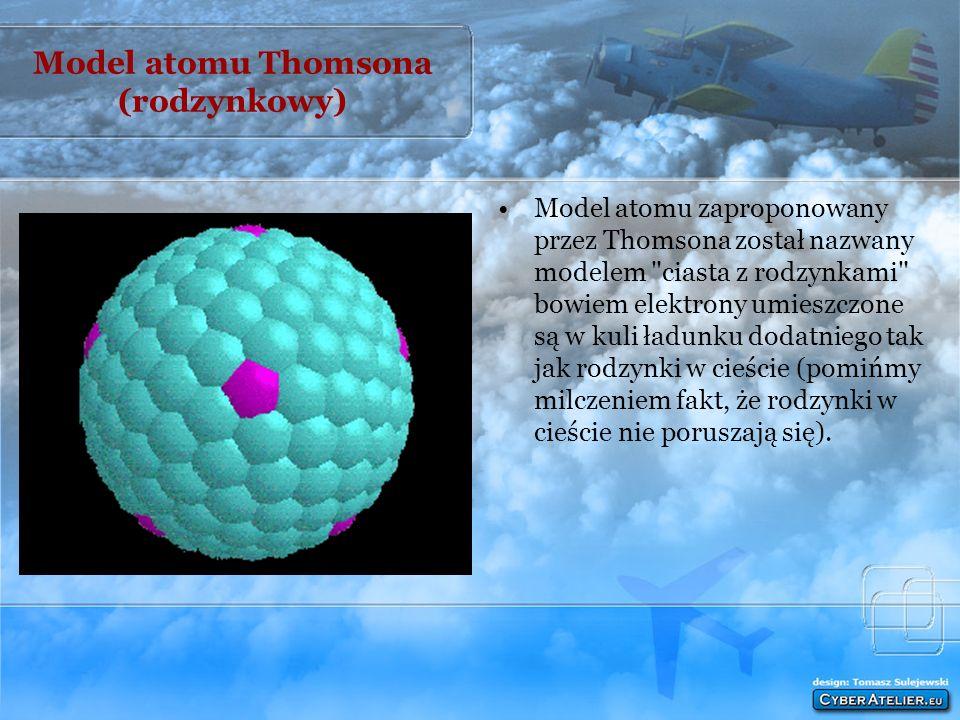Model atomu Thomsona (rodzynkowy)