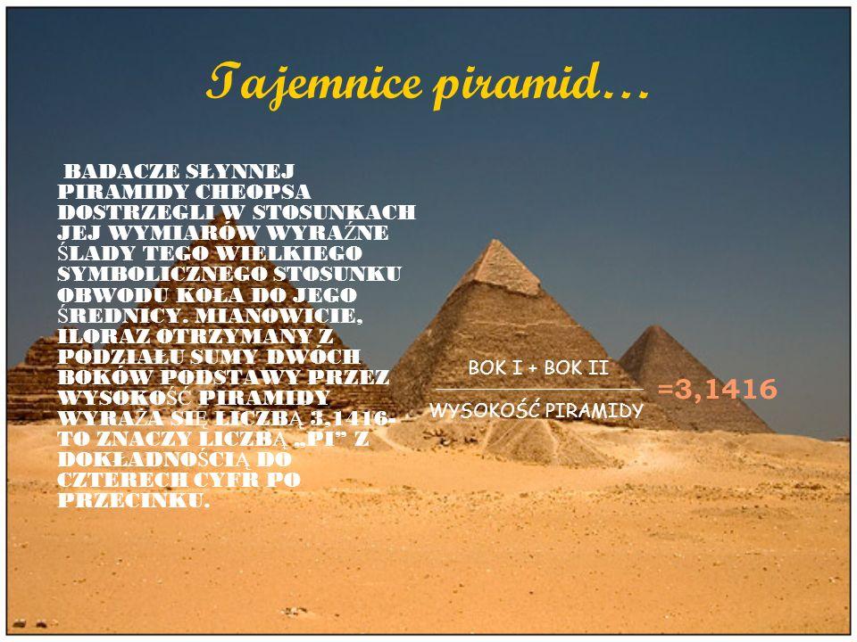 Tajemnice piramid…