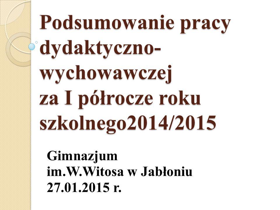 Gimnazjum im.W.Witosa w Jabłoniu 27.01.2015 r.